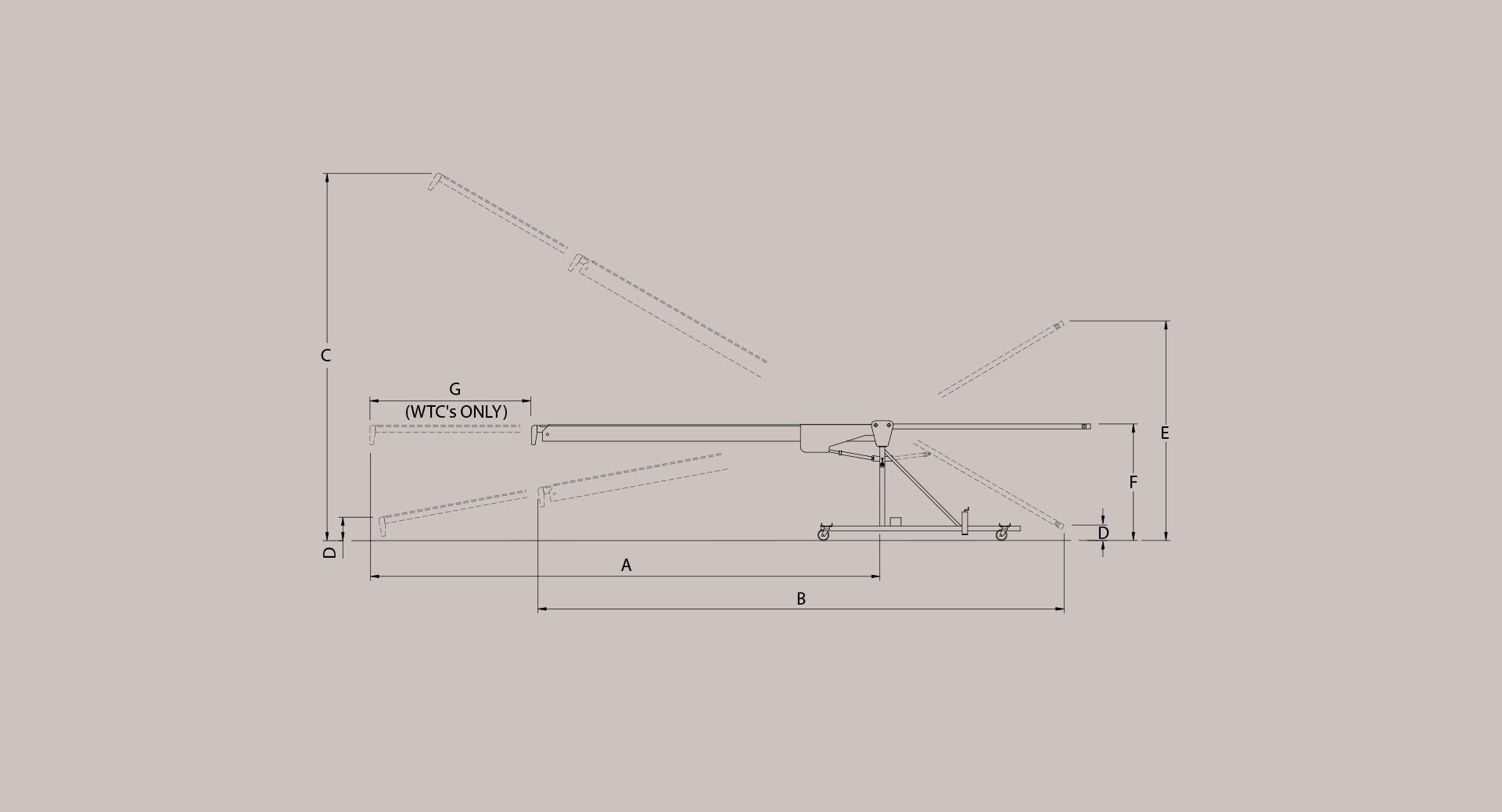 w-type conveyor technical drawing