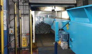 autolading conveyor at supermarket chain warehouse
